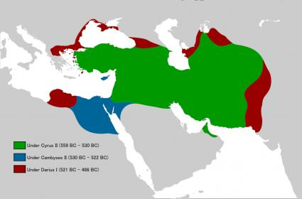 الاســـم:1024px-Achaemenid_Empire_under_different_kings_(flat_map).svg.jpg المشاهدات: 28 الحجـــم:12.9 كيلوبايت